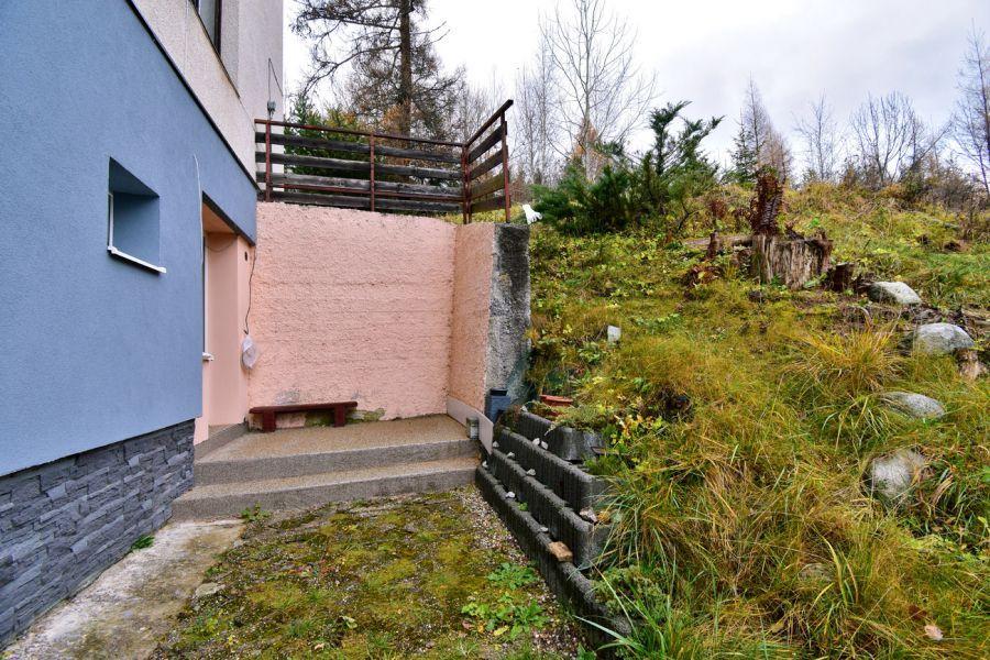 Garsónka s terasou vo Vysokých Tatrách / časť Horný Smokovec